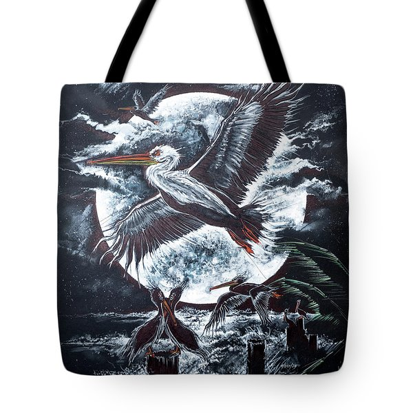 Pelican Moon Tote Bag
