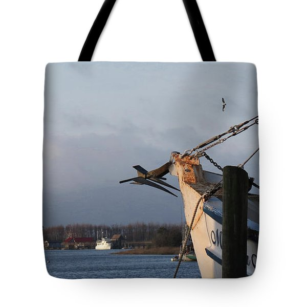 Pelican Morning Harbor Tote Bag