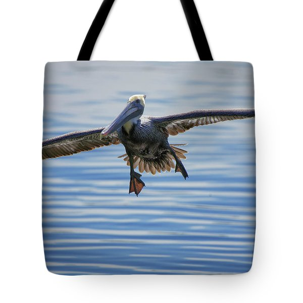 Pelican On Approach Tote Bag