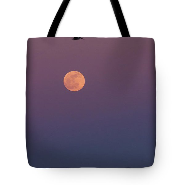 Pelican Over The Moon Tote Bag