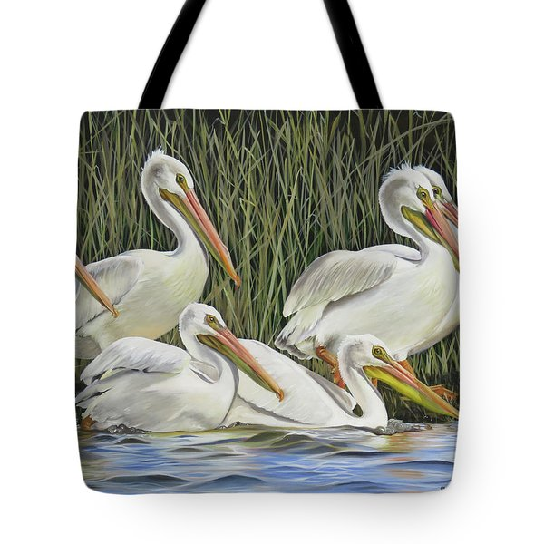 Pelican Parade Tote Bag by Phyllis Beiser