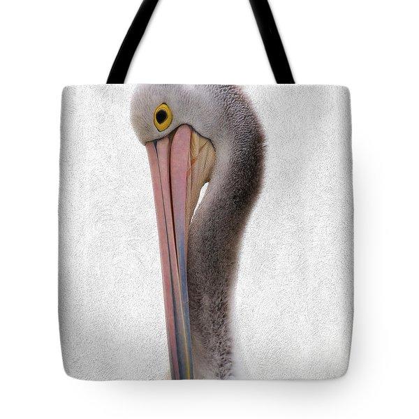 Pelican Portrait 001 Tote Bag