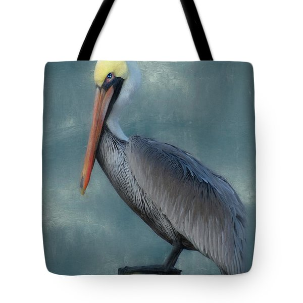 Tote Bag featuring the photograph Pelican Portrait by Benanne Stiens