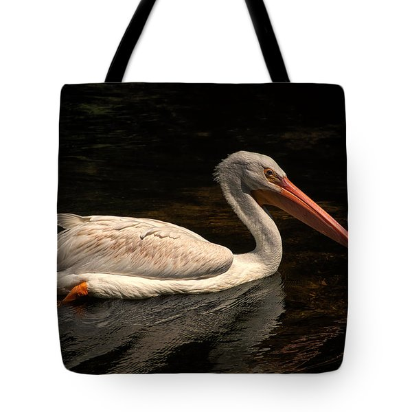 Pelican Swimming In Salisbury Tote Bag