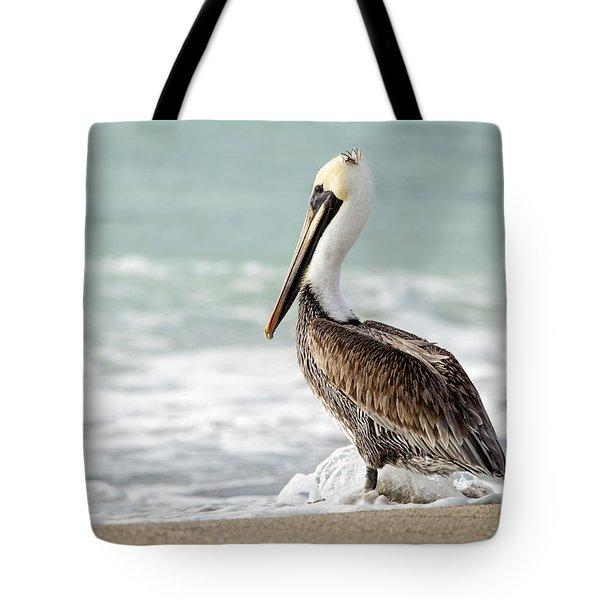 Pelican Waves Tote Bag