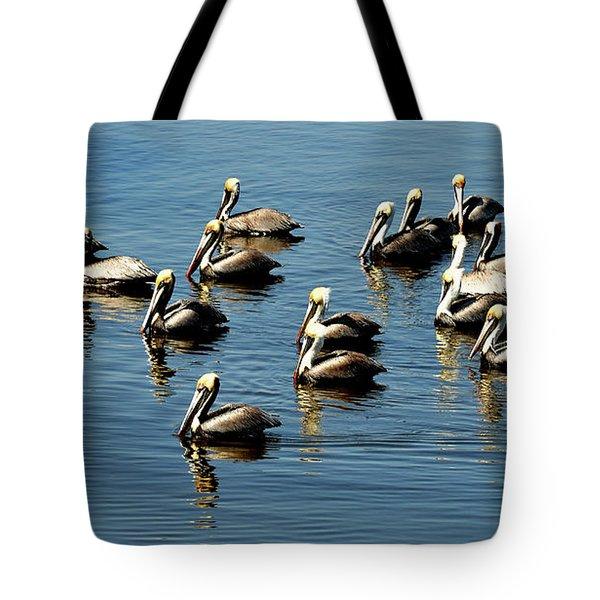 Pelicans Blue Tote Bag