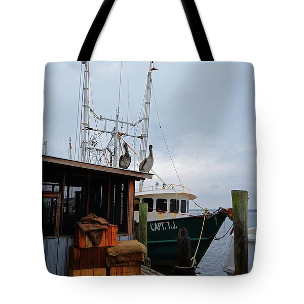 Pelicans Looking For Lunch Tote Bag
