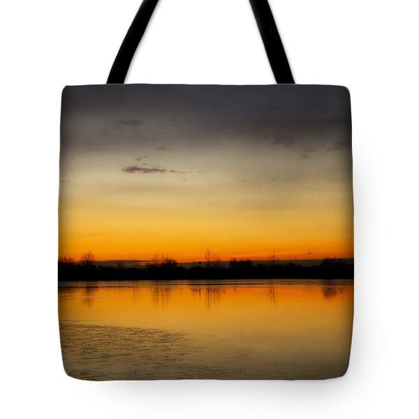 Pella Ponds  December 16th Sunrise Tote Bag by James BO  Insogna