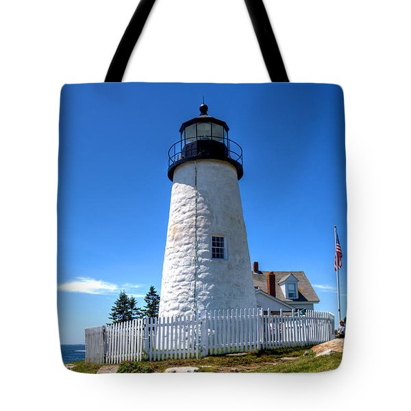 Tote Bag featuring the photograph Pemaquid Point Lighthouse by Adrian LaRoque