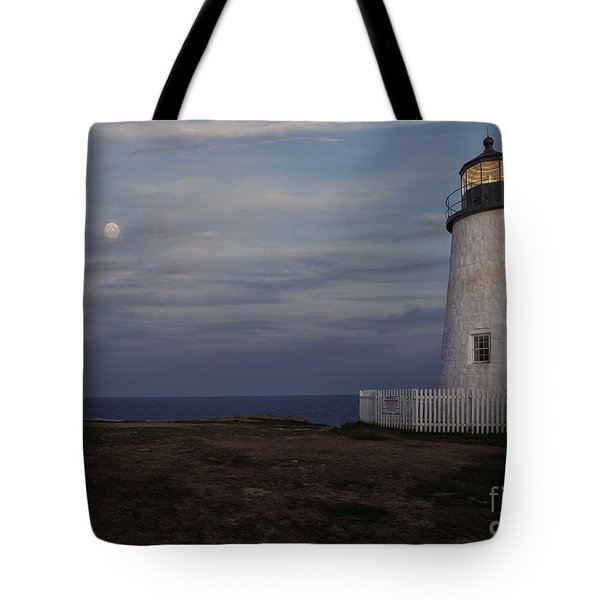 Pemaquid And Full Moon Tote Bag