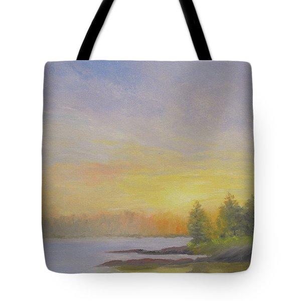 Pemaquid Beach Sunset Tote Bag