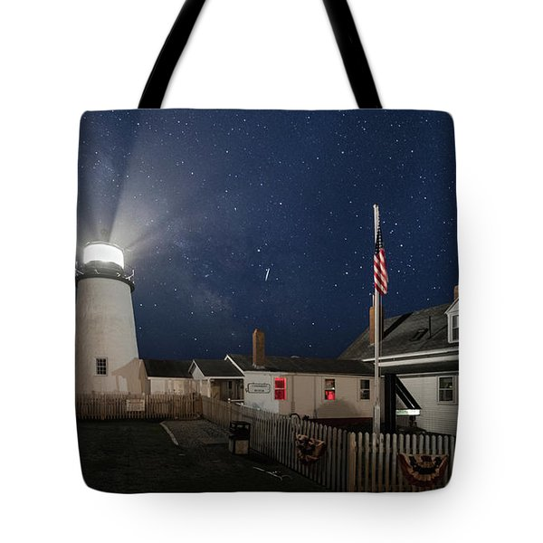 Pemaquid Point Light Flare Tote Bag