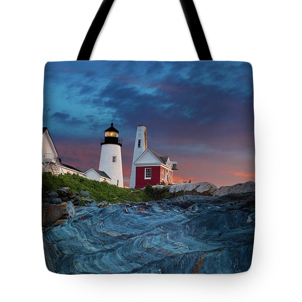 Pemaquid Point Lighthouse At Dawn 2 Tote Bag