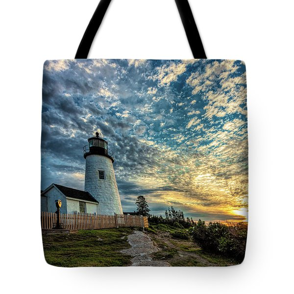 Pemaquid Point Lighthouse At Daybreak Tote Bag