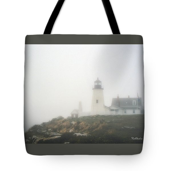 Pemaquid Point Lighthouse In Fog Tote Bag
