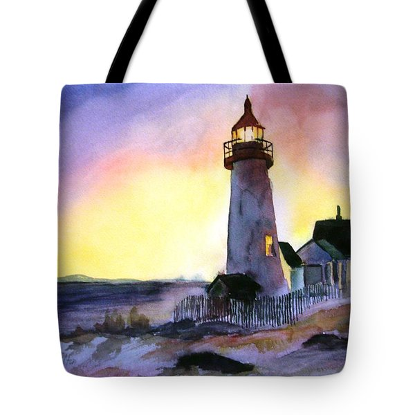 Pemaquid Point Lighthouse Maine Tote Bag