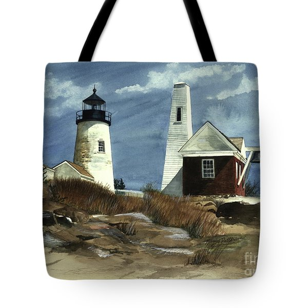 Pemaquid Point Lighthouse  Tote Bag by Nancy Patterson
