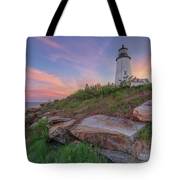Pemaquid Point Sunset Tote Bag