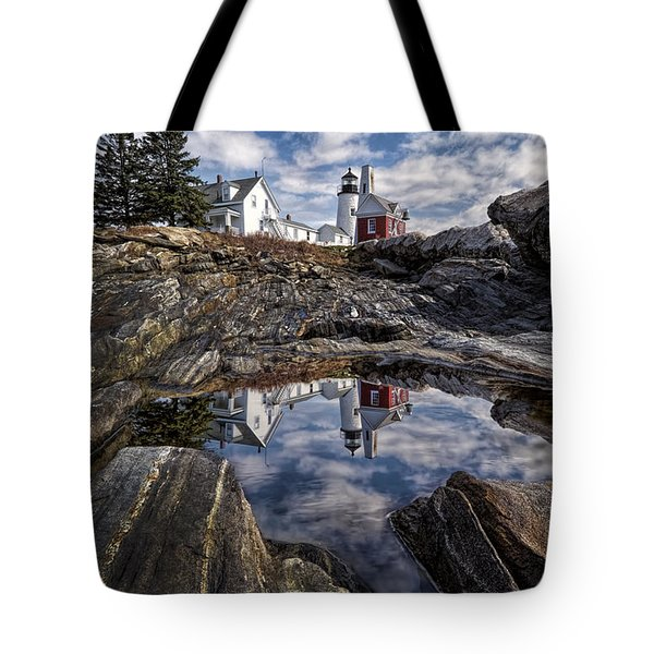 Tote Bag featuring the photograph Pemaquid Reflected by Jaki Miller