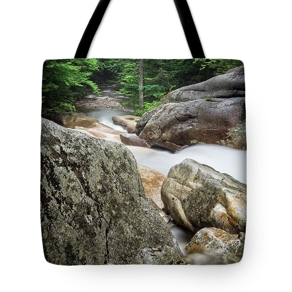 Tote Bag featuring the photograph Pemi Above Basin by Michael Hubley