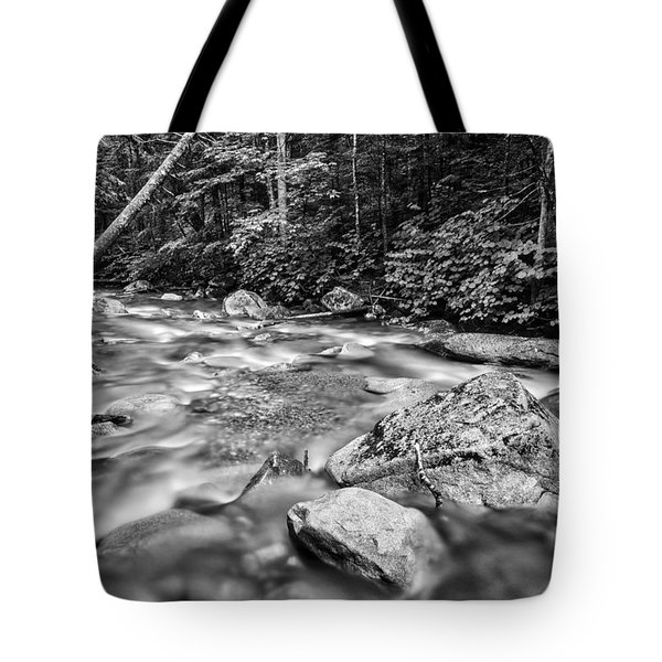 Pemi River Black-white Tote Bag