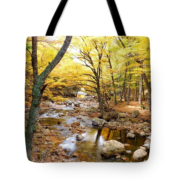 Pemigwasett River At The Flume Tote Bag