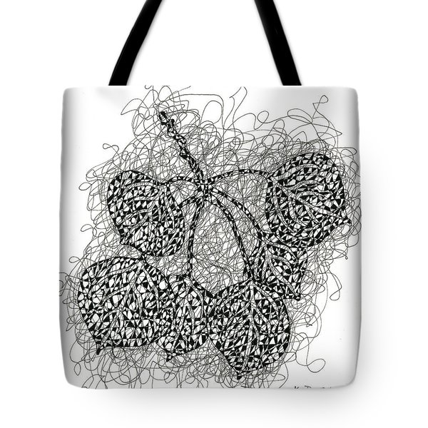 Pen And Ink Drawing Of Aspen Leaves Tote Bag