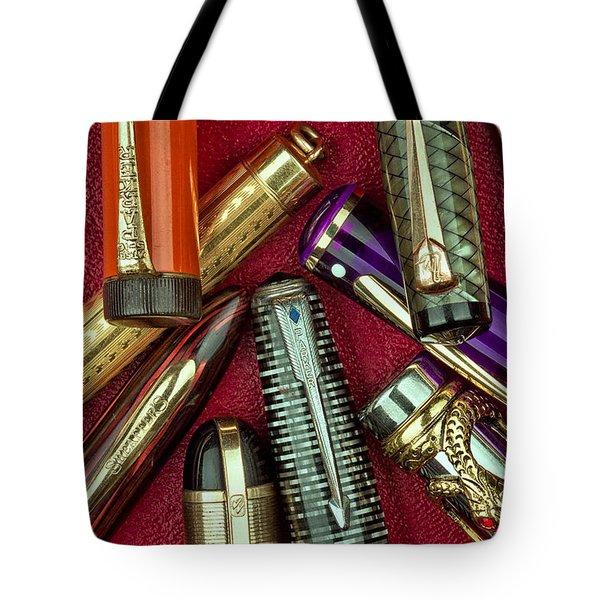 Pen Caps Still Life Tote Bag
