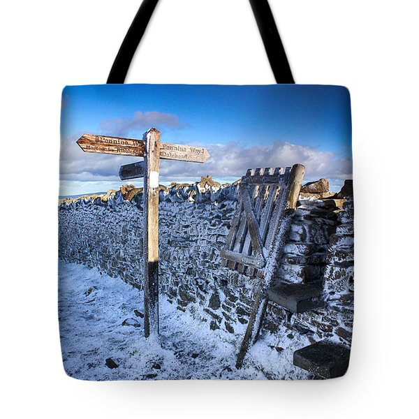 Pen Y Ghent Summit February Tote Bag