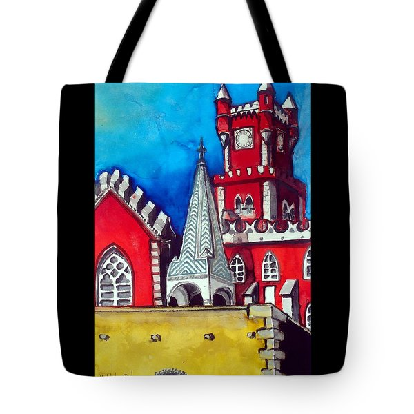Pena Palace In Portugal Tote Bag by Dora Hathazi Mendes