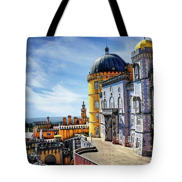 Tote Bag featuring the photograph Pena Palace In Sintra Portugal  by Carol Japp