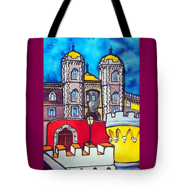 Pena Palace In Sintra Portugal  Tote Bag by Dora Hathazi Mendes
