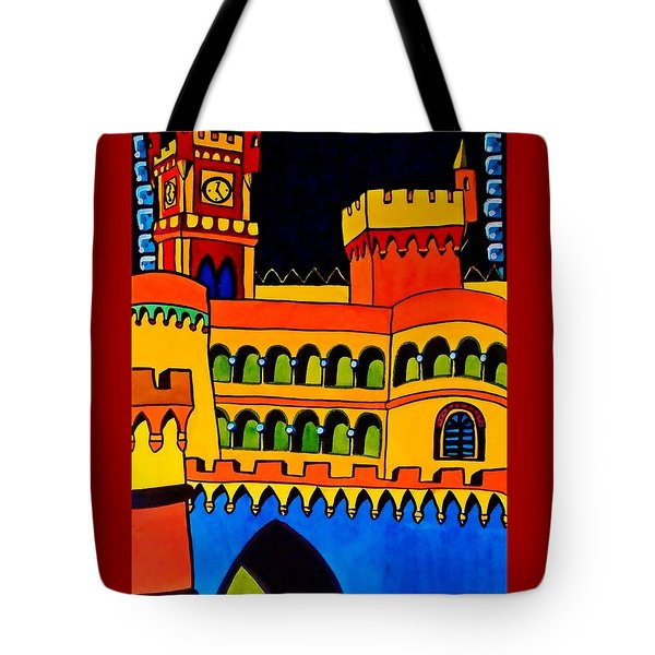 Pena Palace Portugal Tote Bag by Dora Hathazi Mendes