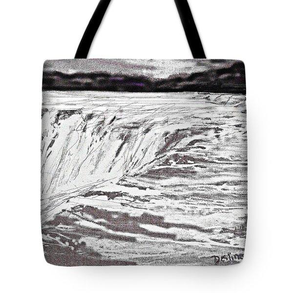 Pencil Falls Tote Bag by Desline Vitto