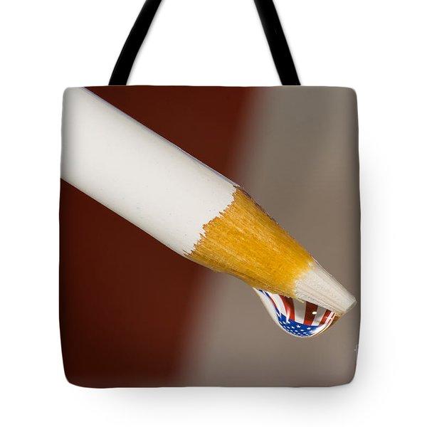 Pencil Flag Drop Tote Bag