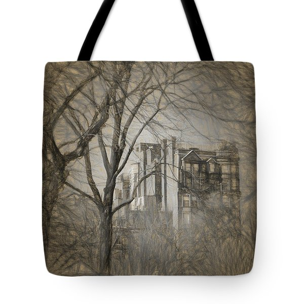 Pencil Sketch Of Beacon Hill Tote Bag