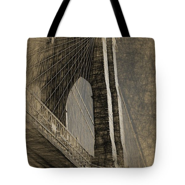 Pencil Sketch Of The Brooklyn Bridge Tote Bag