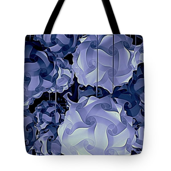 Tote Bag featuring the photograph Pendants In Purple by Ranjini Kandasamy