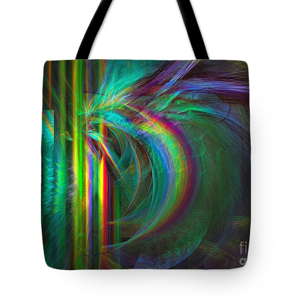 Penetrated By Life - Abstract Art Tote Bag