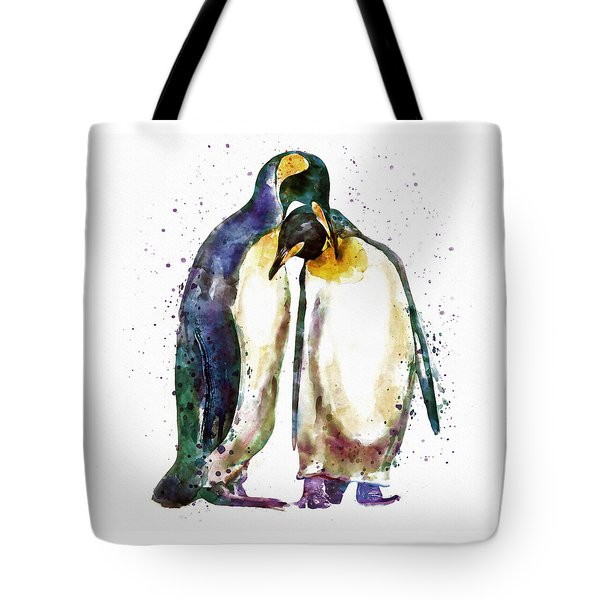 Penguin Couple Tote Bag