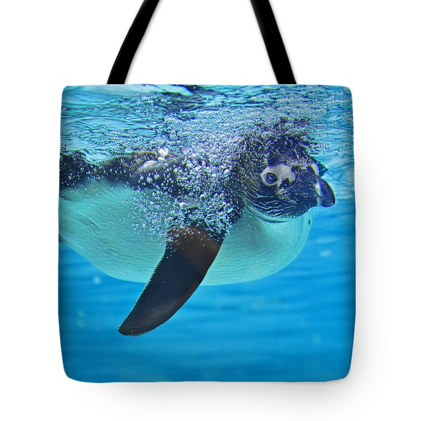 Penguin Dive Tote Bag