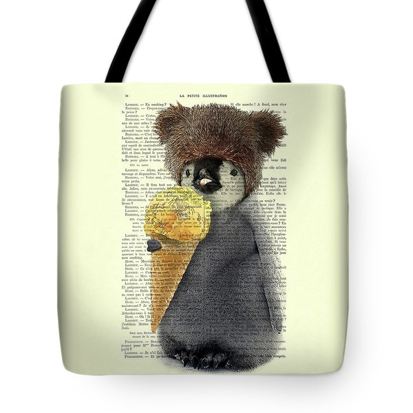 Penguin Ice Cream Tote Bag