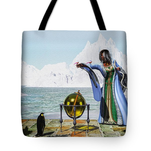 Penguin Magic And The Winter Witch Tote Bag by Bob Orsillo