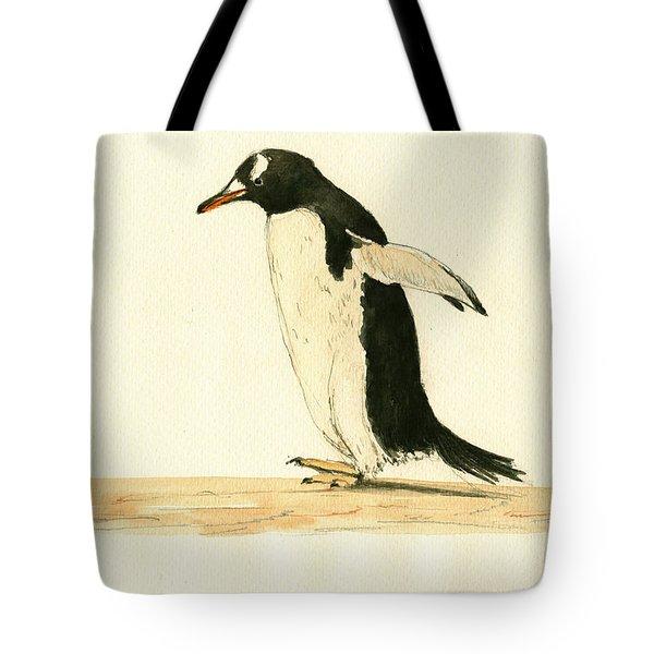 Penguin Walking Tote Bag
