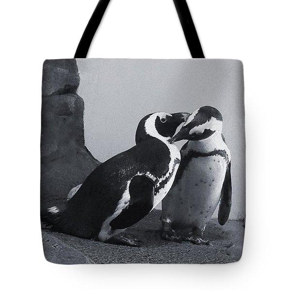 Penguins Tote Bag by Sandy Taylor