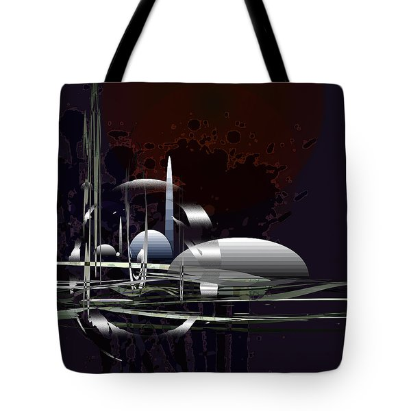 Tote Bag featuring the painting Penman Original-171b by Andrew Penman