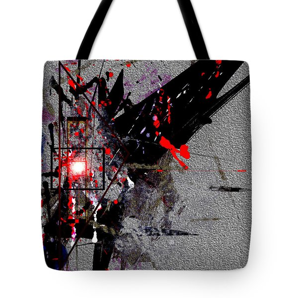 Tote Bag featuring the painting Penman Original-230 Point Of Impact by Andrew Penman