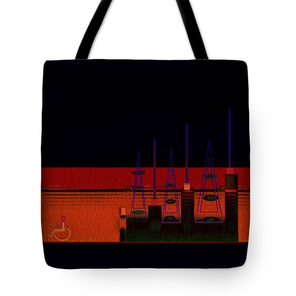 Tote Bag featuring the painting Penman Original-271-getting Past The Obstacles by Andrew Penman