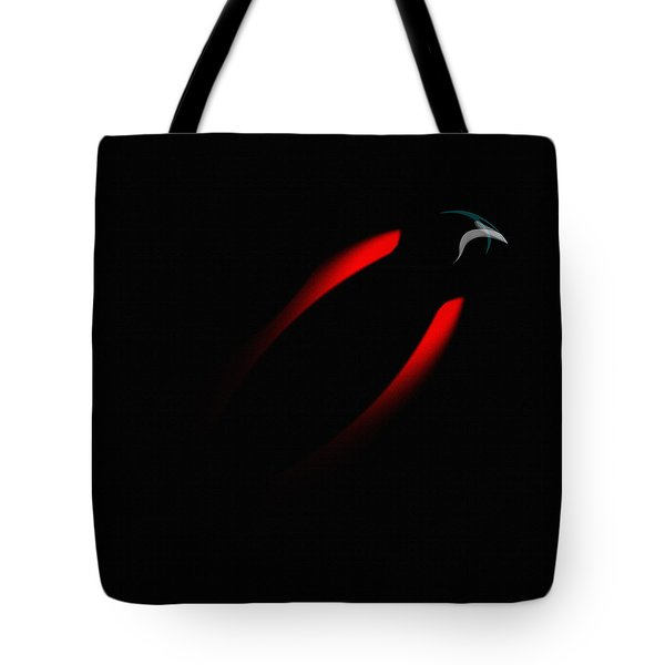 Tote Bag featuring the painting Penman Original 281 - Fleeing From The Grip Of Terror by Andrew Penman