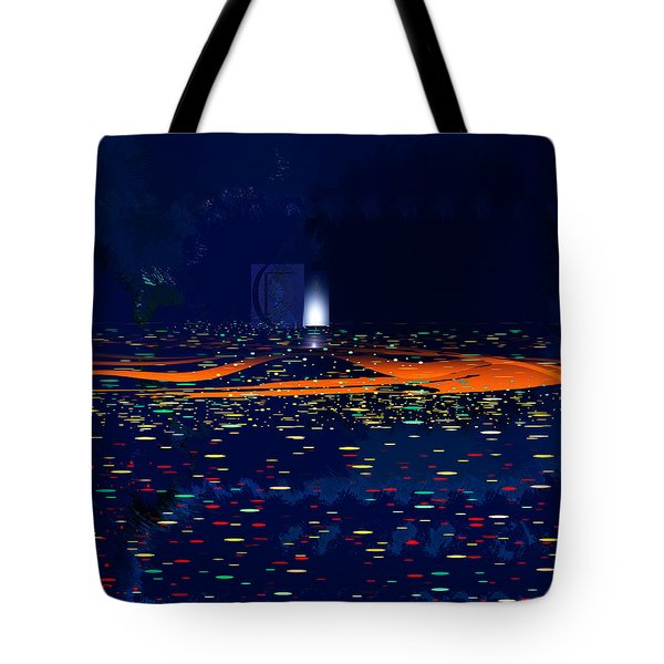 Tote Bag featuring the painting Penman Original-i81 by Andrew Penman